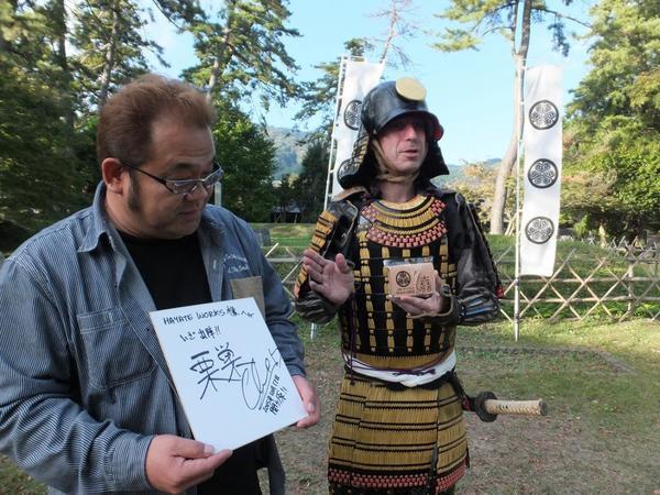 関ヶ原観光大使 クリス グレンさんにお会いしました