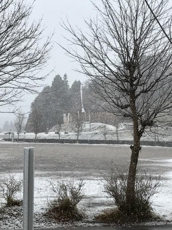 雪の関ヶ原 岐阜 レザークラフト ハヤテワークス