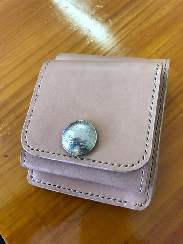 二つ折り財布 オーダー品完成! 岐阜 レザークラフト ハヤテワークス